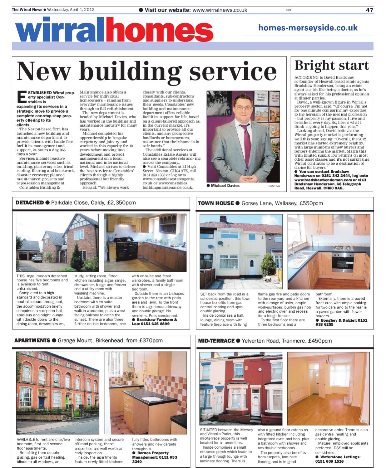 Wirral Homes Property Wallasey Edition 4th April 2012
