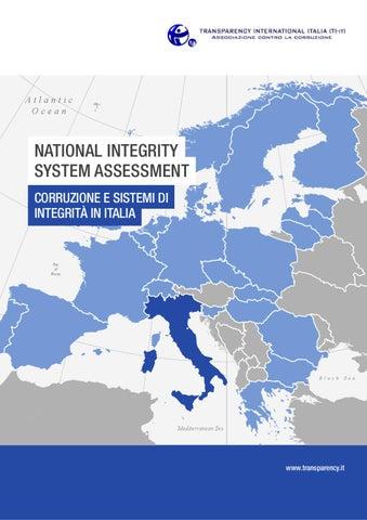 National Integrity System Assessment  Corruzione e Sistema di Integrità in  Italia 397f84838ab
