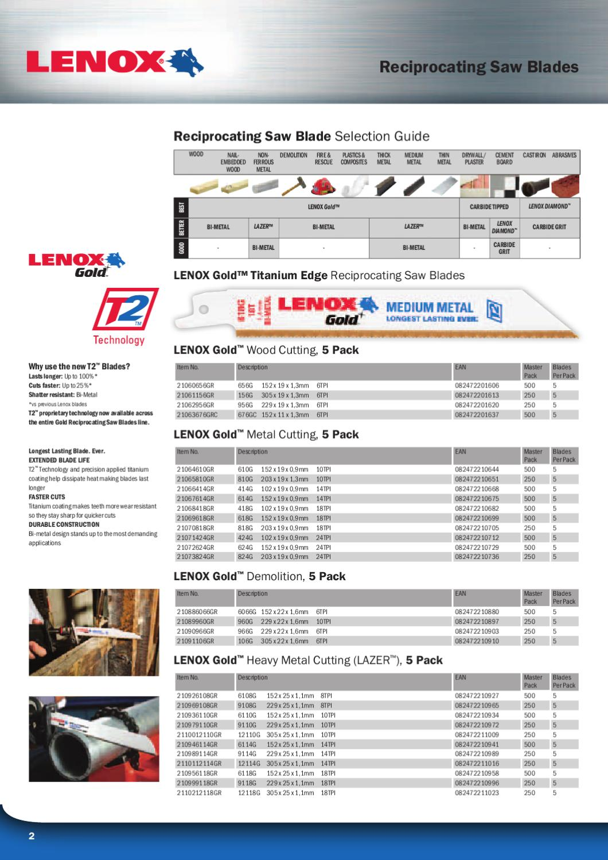 Lenox Gold 418G-4-Inch 18TPI Titanium Edge Metal Cutting Reciprocating Blade 5-Pack