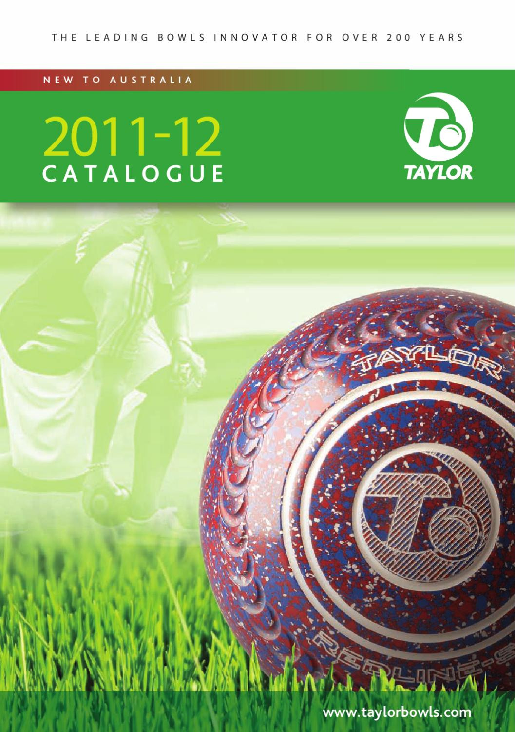 Taylor bowls australia catalogue 2012 by euan johnstone issuu geenschuldenfo Choice Image
