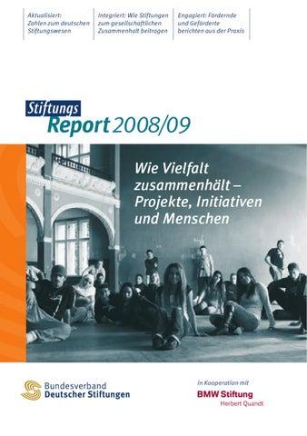 StiftungsReport 2008/09 by Bundesverband Deutscher Stiftungen - issuu