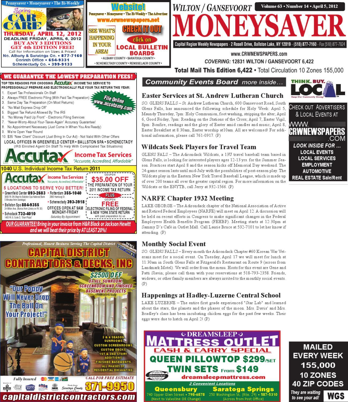 wilton gansevoort sgf moneysaver by capital region weekly