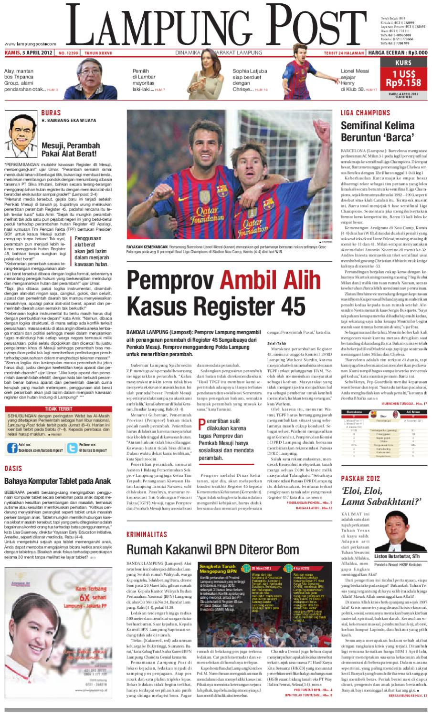 Lampungpost Edisi 5 April 2011 By Lampung Post Issuu Kopi Bos Ila Arifin Amr
