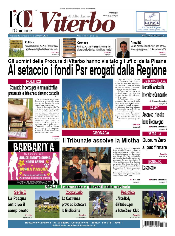 Giovannetti Mobili Roma Lazio l'opinione di viterbo - 04.04.2012 by nuovo viterbo oggi - issuu