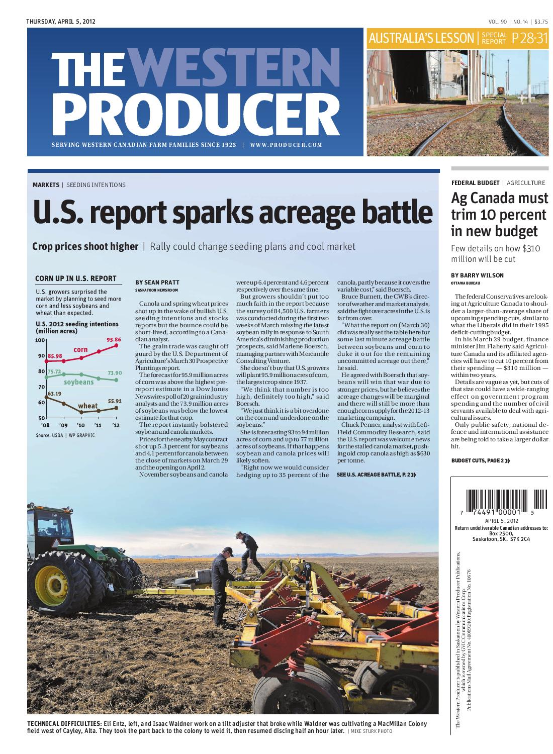 April 5, 2012 - The Western Producer by The Western Producer - issuu