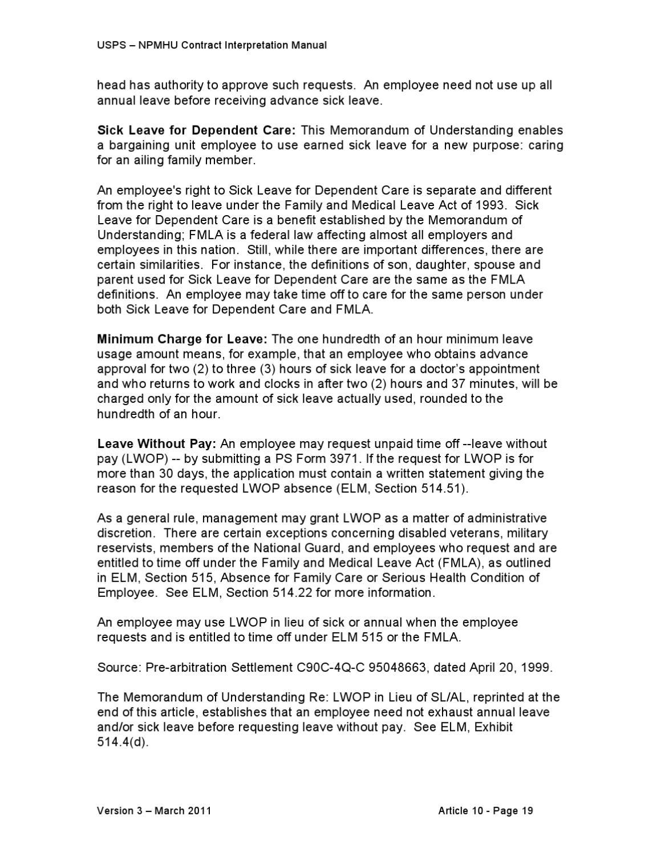 CONTRACT INTERPRETATION MANUAL (CIM) Version 3 by National Postal ...