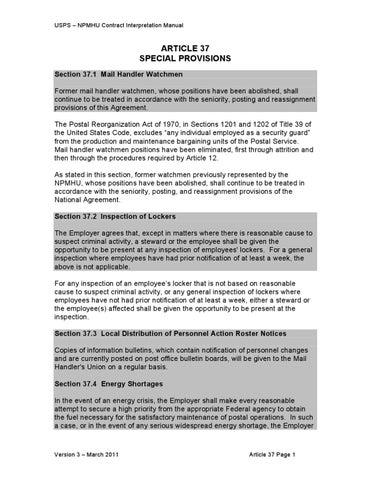 CONTRACT INTERPRETATION MANUAL (CIM) Version 3