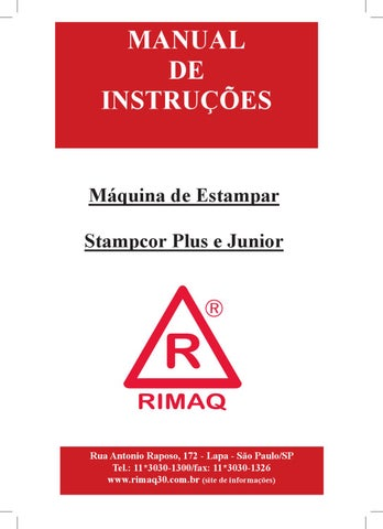 Manual Rimaq   Stampcor Plus e Stampcor Junior by rimaq rimaq - issuu d1ed93451ed4e
