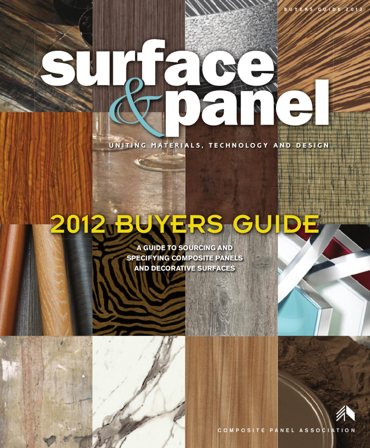 Surface and Panel 2012 Buyers Guide