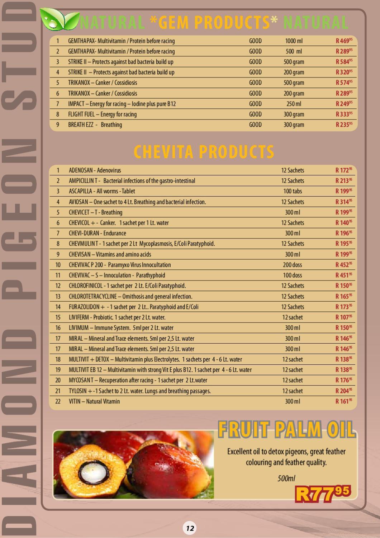 Diamond Pigeon Stud Catalogue 2012 by Koos Gagiano - issuu