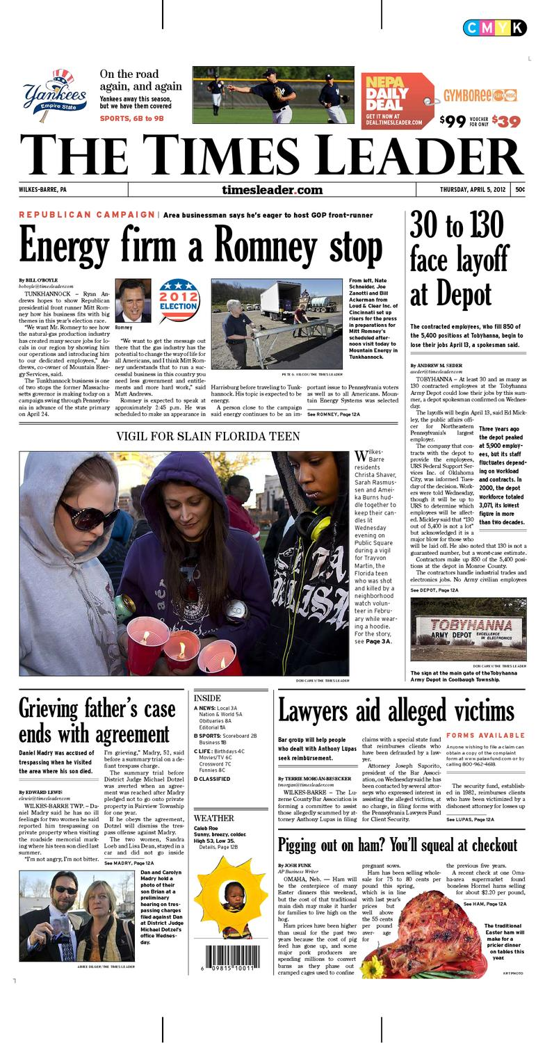 Times Leader 04-05-2012 by The Wilkes-Barre Publishing Company - issuu ba06073e5995c