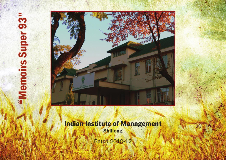 Iim Shillong Yearbook 2012 By Printbindaas Com By Suraj Goyal Issuu