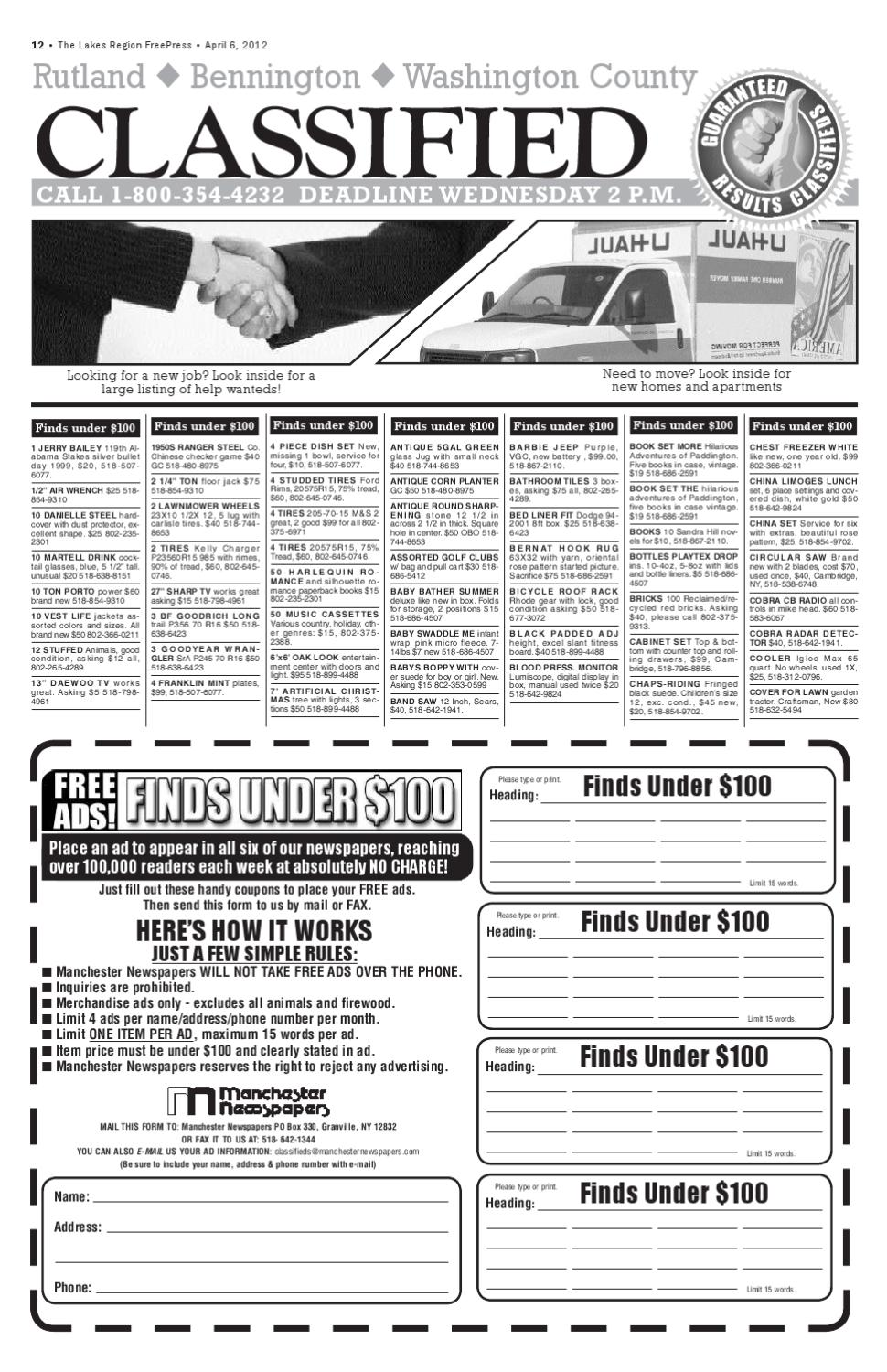 lakes classifieds 4-6-12 pdf-web by Andrew Jones - issuu