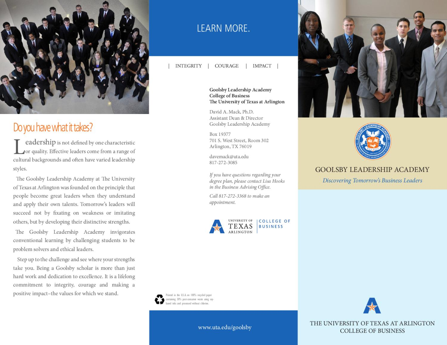 There Live To Ready Academy Of Business Leadership