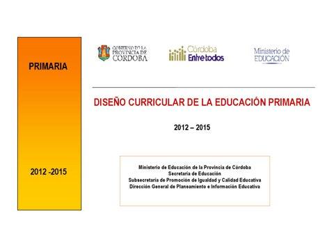 Dise o curricular primaria provincia de c rdoba 2012 for Diseno curricular primaria