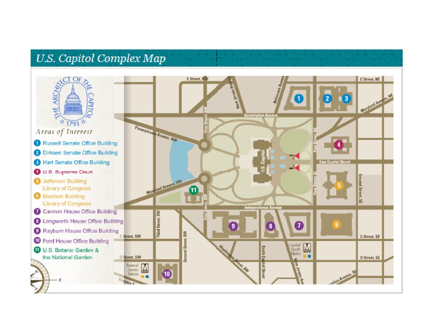 US Capitol Complex Map by Association for Unmanned Vehicle