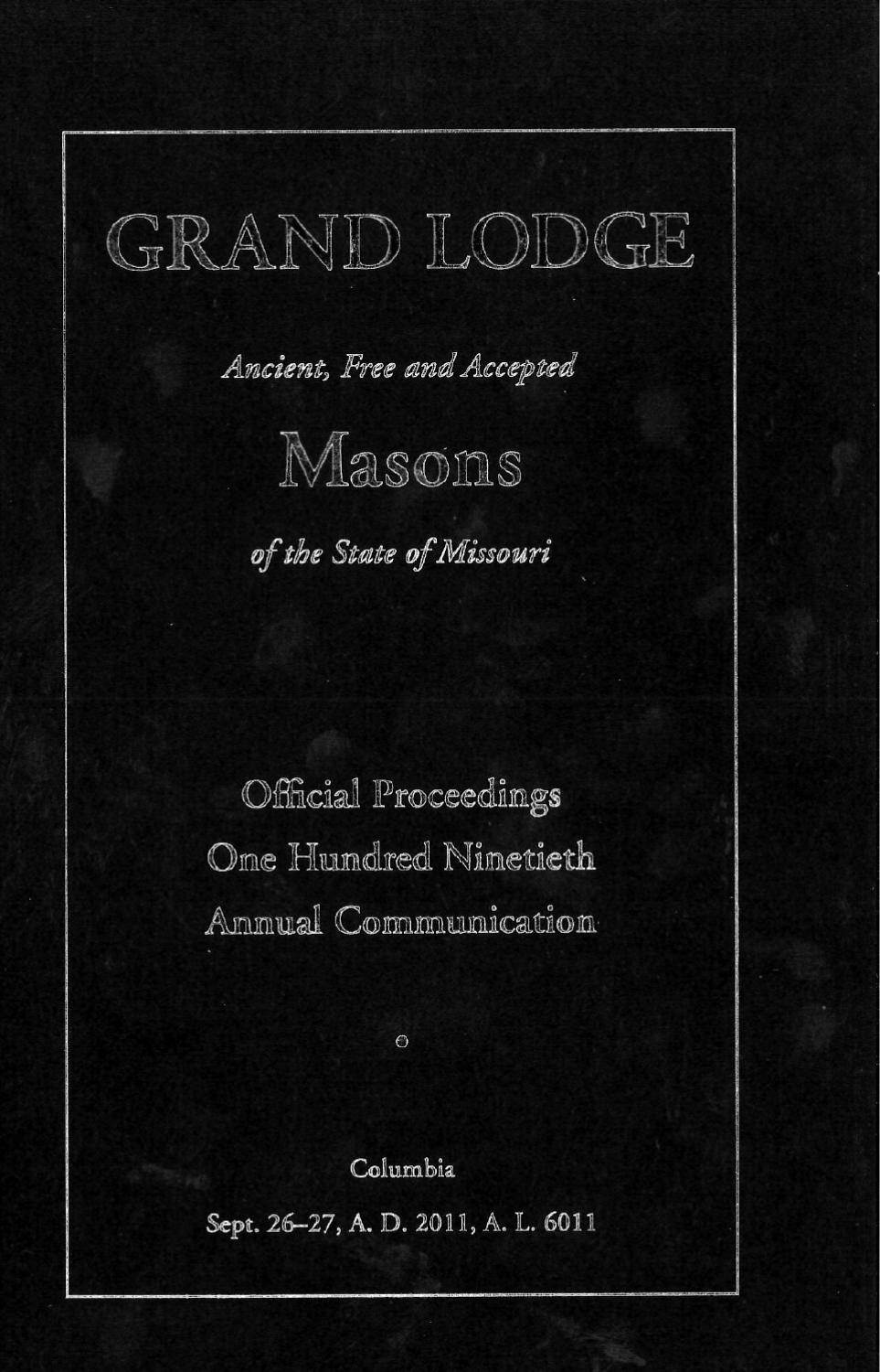 cover letter maker%0A Official Proceedings  Grand Lodge MO Communication      by Missouri  Freemasons  issuu
