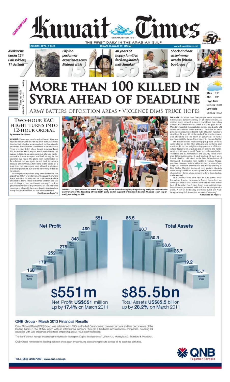 08 Apr 2012 By Kuwait Times Issuu