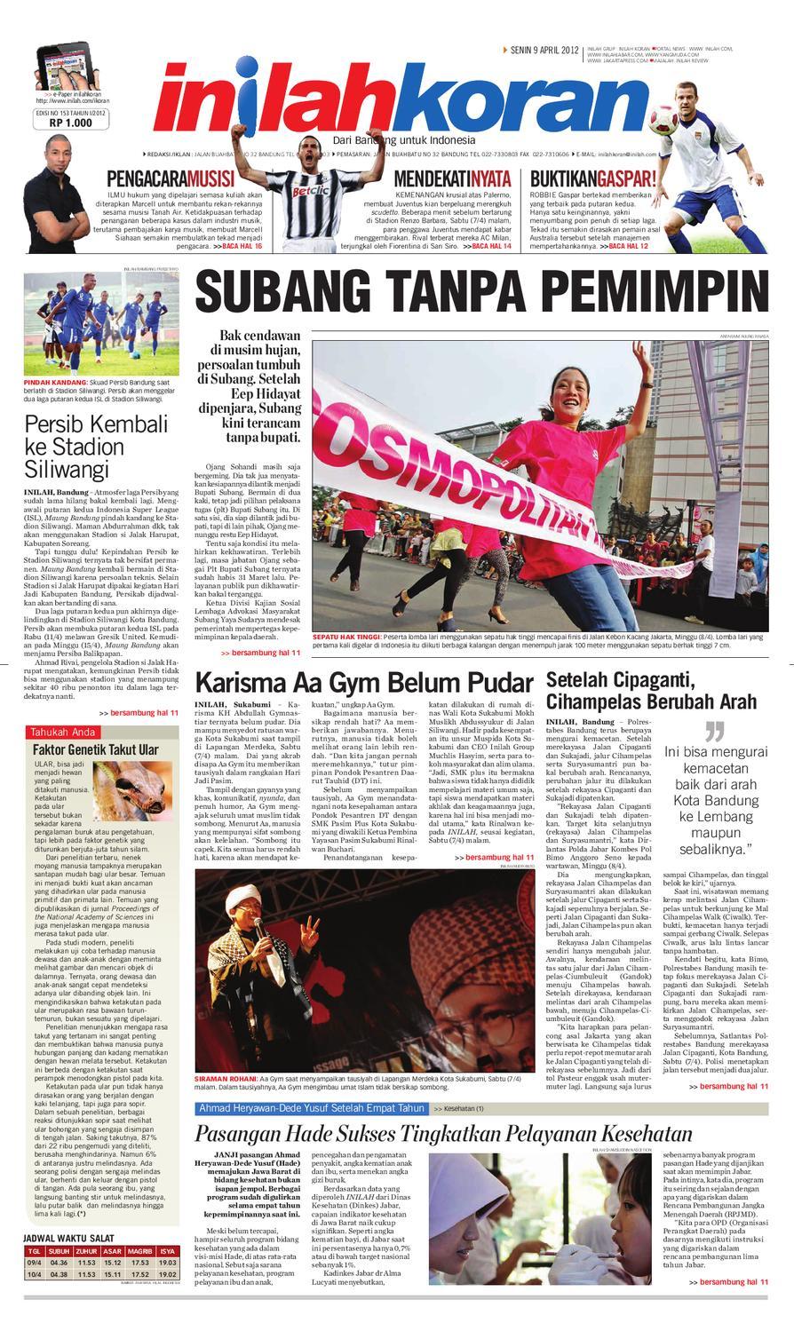 SUBANG TANPA PEMIMPIN By Inilah Koran Issuu