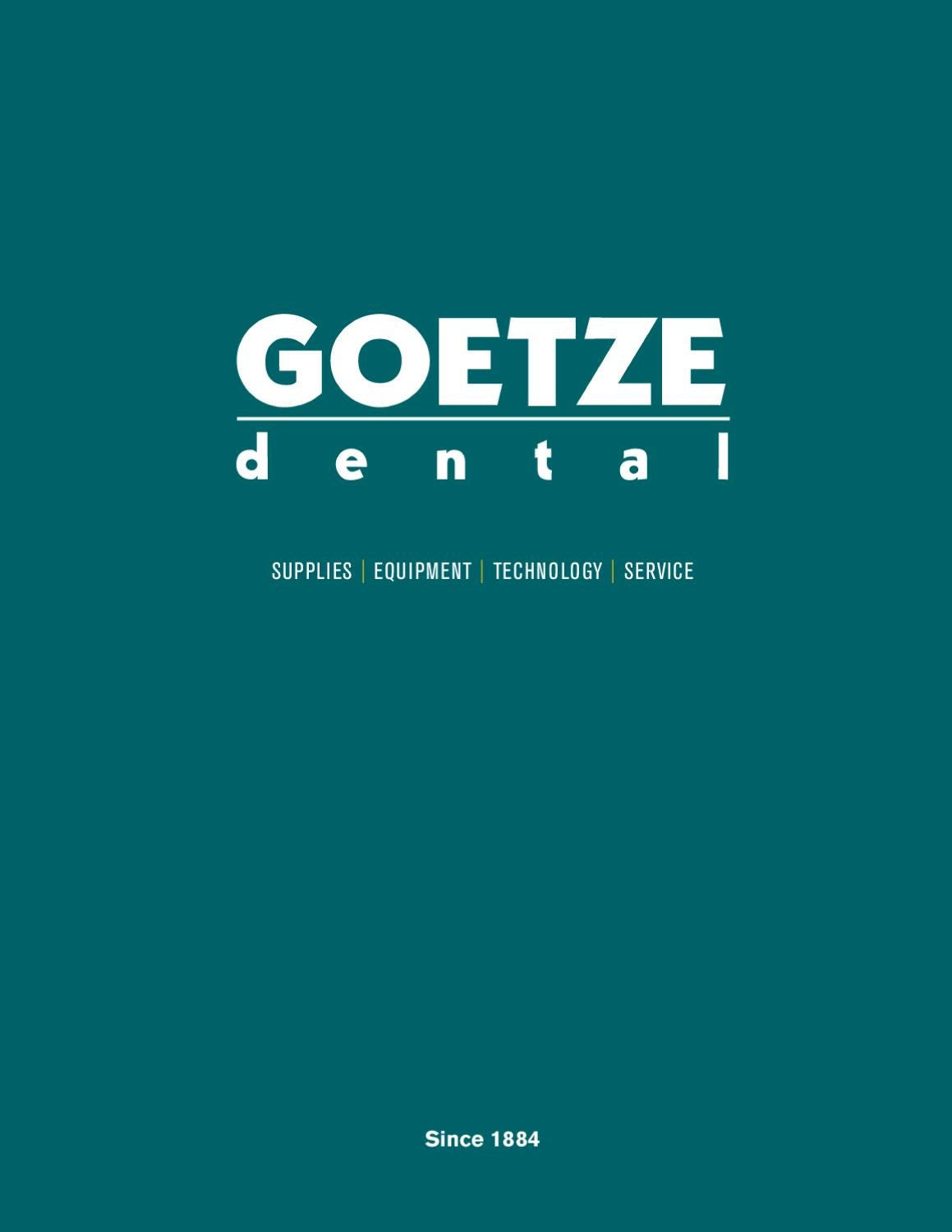 2011 - 2012 Goetze Dental Catalog by Goetze Dental - issuu