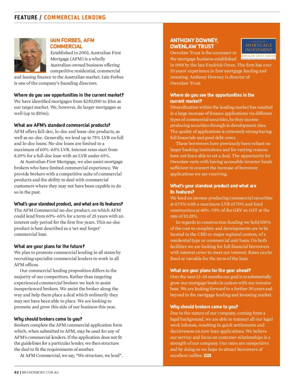 Mortgage Professional Australia magazine Issue 12 04