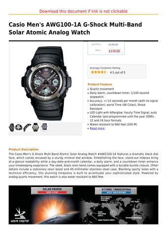 casio manual watch download