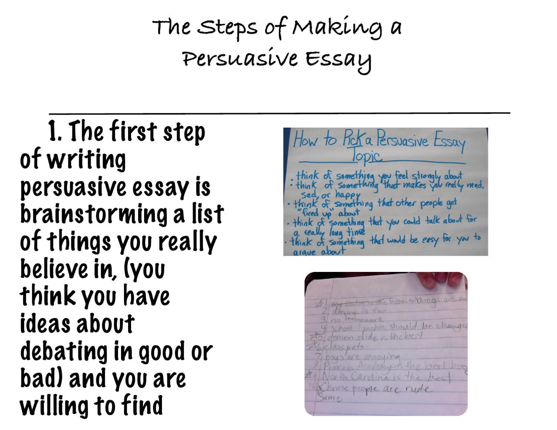 step to write a persuasive essay