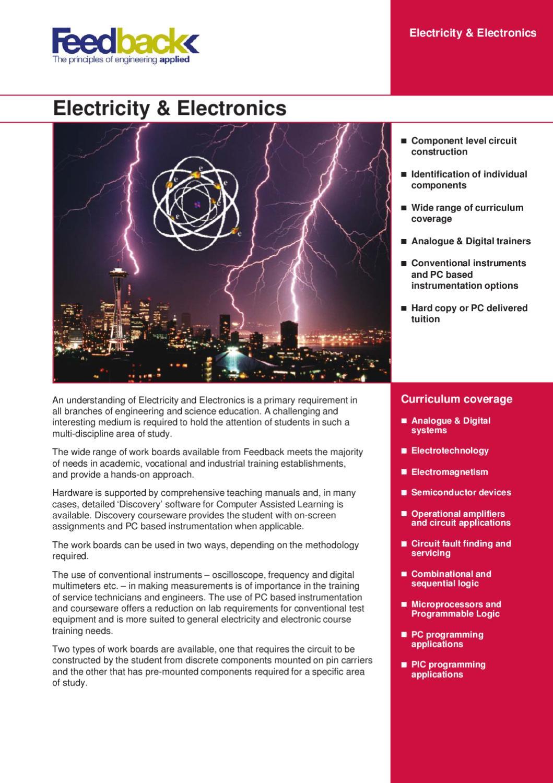 Catlogo Electricidad Y Electrnica De Feedback By Iberdidac Issuu Analogue To Digital Conversion Tutorial Circuits Sequential Logic