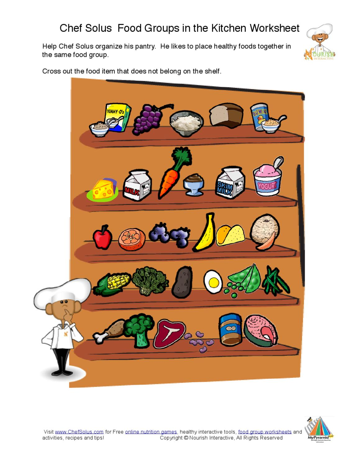 worksheet Which Does Not Belong Worksheet kids food groups fun worksheet activities printable nutrition education pages by nieves hita issuu