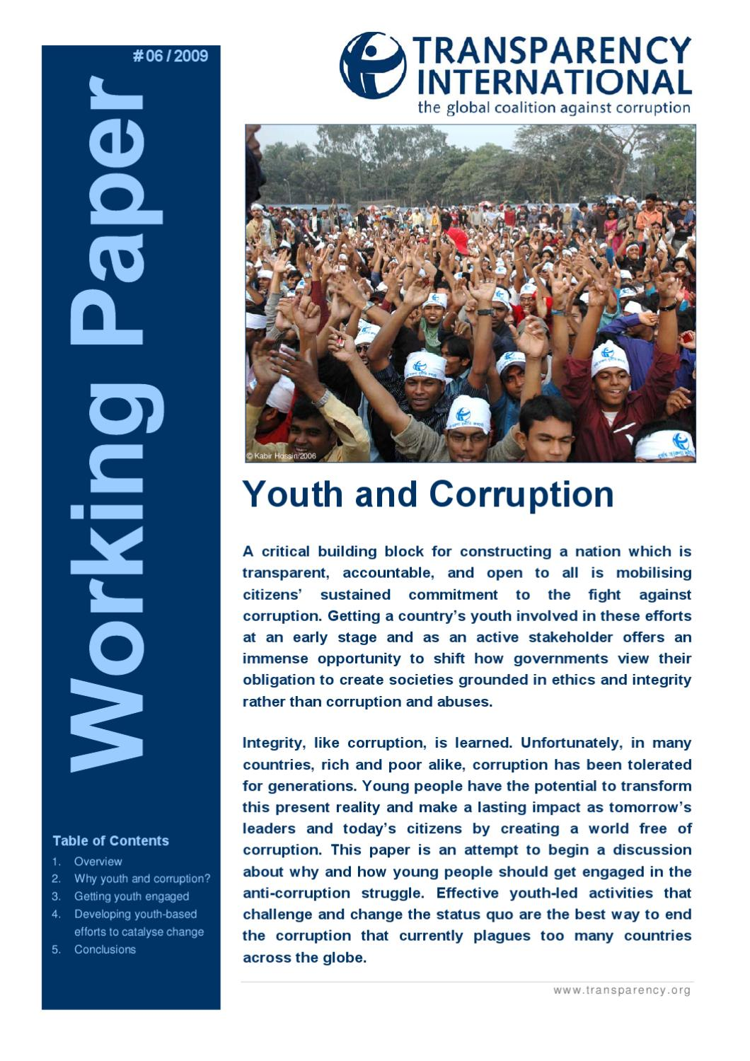 youth and corruption essay Youth and corruption youth is an important factor in the character development in the portrait of dorian gray by oscar wilde, dorian is a child and his actions have no negative impact upon.