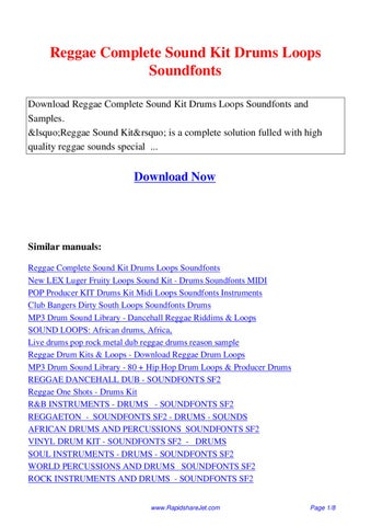 Reggae Complete Sound Kit Drums Loops Soundfonts by Hong Lee - issuu
