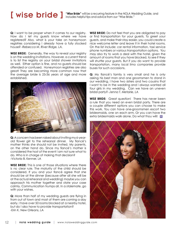 NOLA Wedding Guide Summer 2012 by NOLA Wedding Guide - issuu