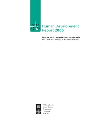 Human Development Report 2005
