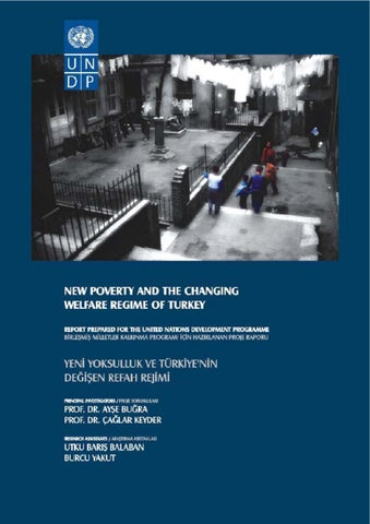 New Poverty And The Changing Welfare Regime Of Turkey By Undp