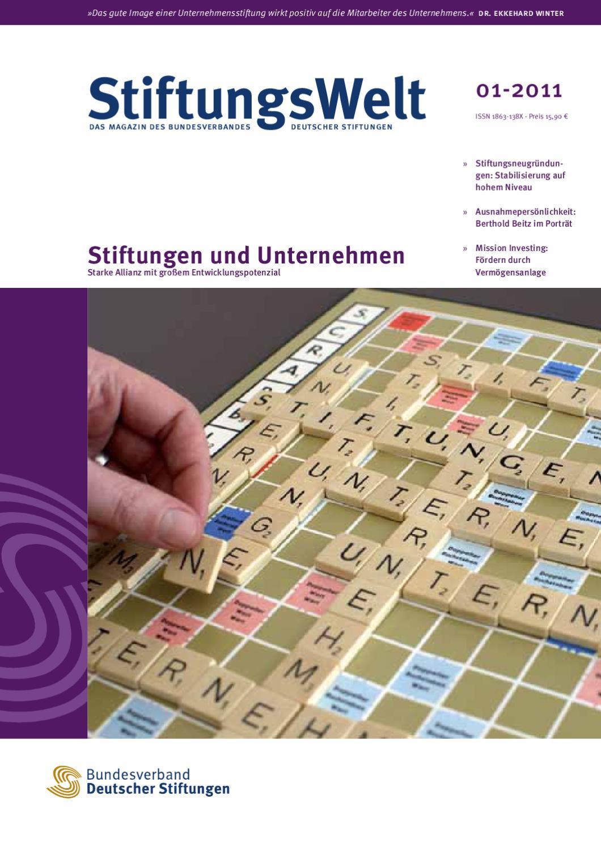 StiftungsWelt 01-2011: Stiftungen und Unternehmen by Bundesverband ...