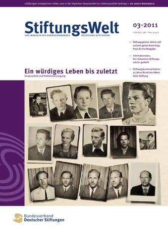 StiftungsWelt 03-2011: Ein würdiges Leben bis zuletzt by ...