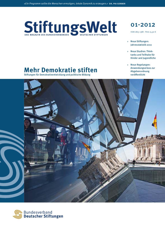 StiftungsWelt 01-2012: Mehr Demokratie stiften by Bundesverband ...