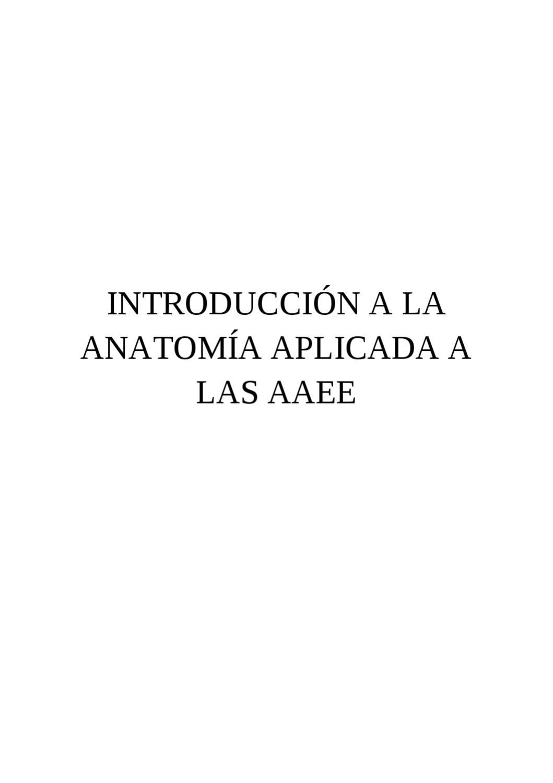 Introduccion a la anatomia aplicada a las artes escenicas by ...