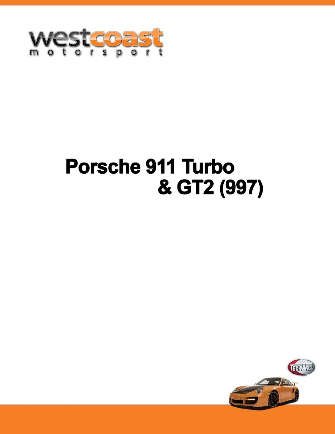 Techart Price List For Porsche 911 Turbo Gt2 997 By West
