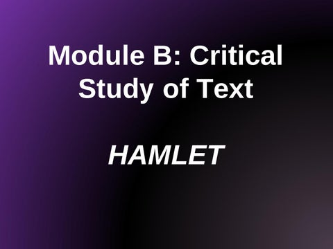 textual integrity in hamlet The messages and themes prevail in hamlet because of his strong textual integrity relating  - hamlet's hesitation as his tragic flaw in hamlet by shakespeare.