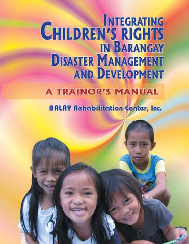Integrating Children's Rights in Barangay Disaster