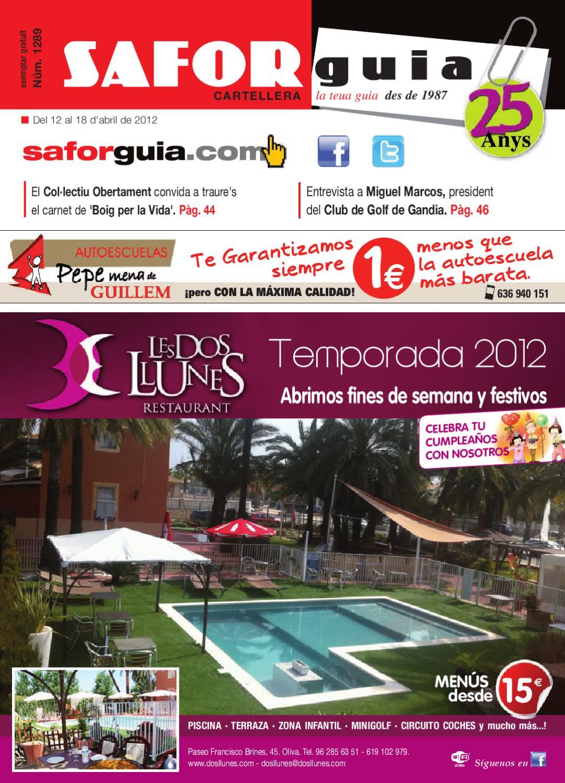 Semana Del 12 Al 18 D Abril De 2012 By Saforguia Mediaserviocio  # Muebles Casal Tauste