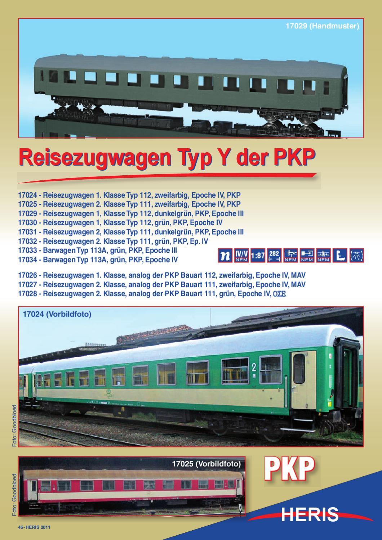 PKP Reisezugwagen Typ III 2te Klasse olivgrün Heris 17031-3 H0 1:87 OVP HN1 å