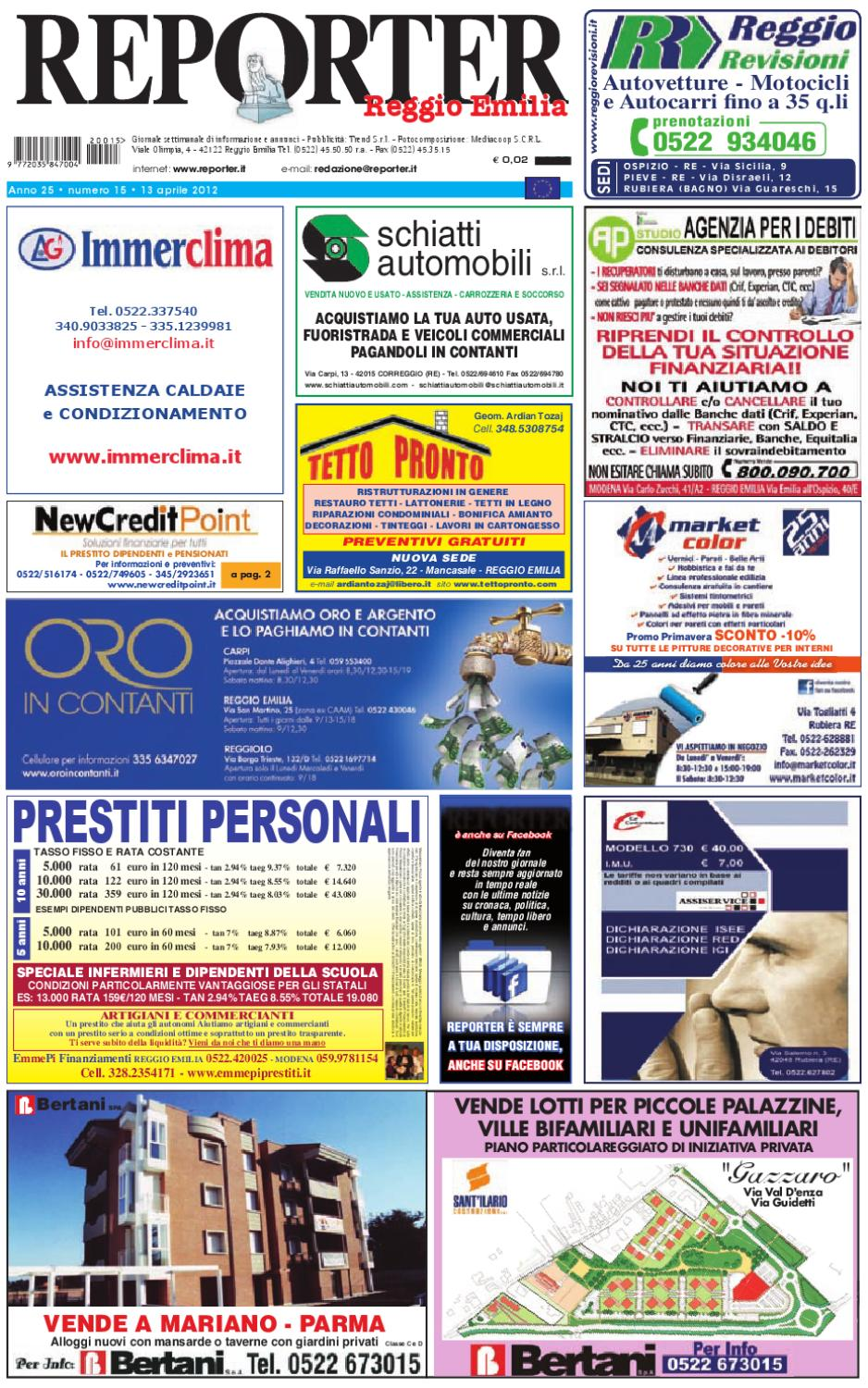 Annunci Reporter Issuu By 13 2012 Aprile pMSUqzVG