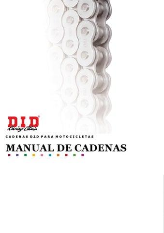 Manual de cadenas D.I.D by Motocicletas y Equipos - issuu 0b67279b50a