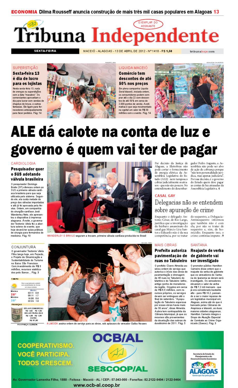 5fd8a3900e Edição número 1418 13 de abril de 2012 by Tribuna Hoje - issuu