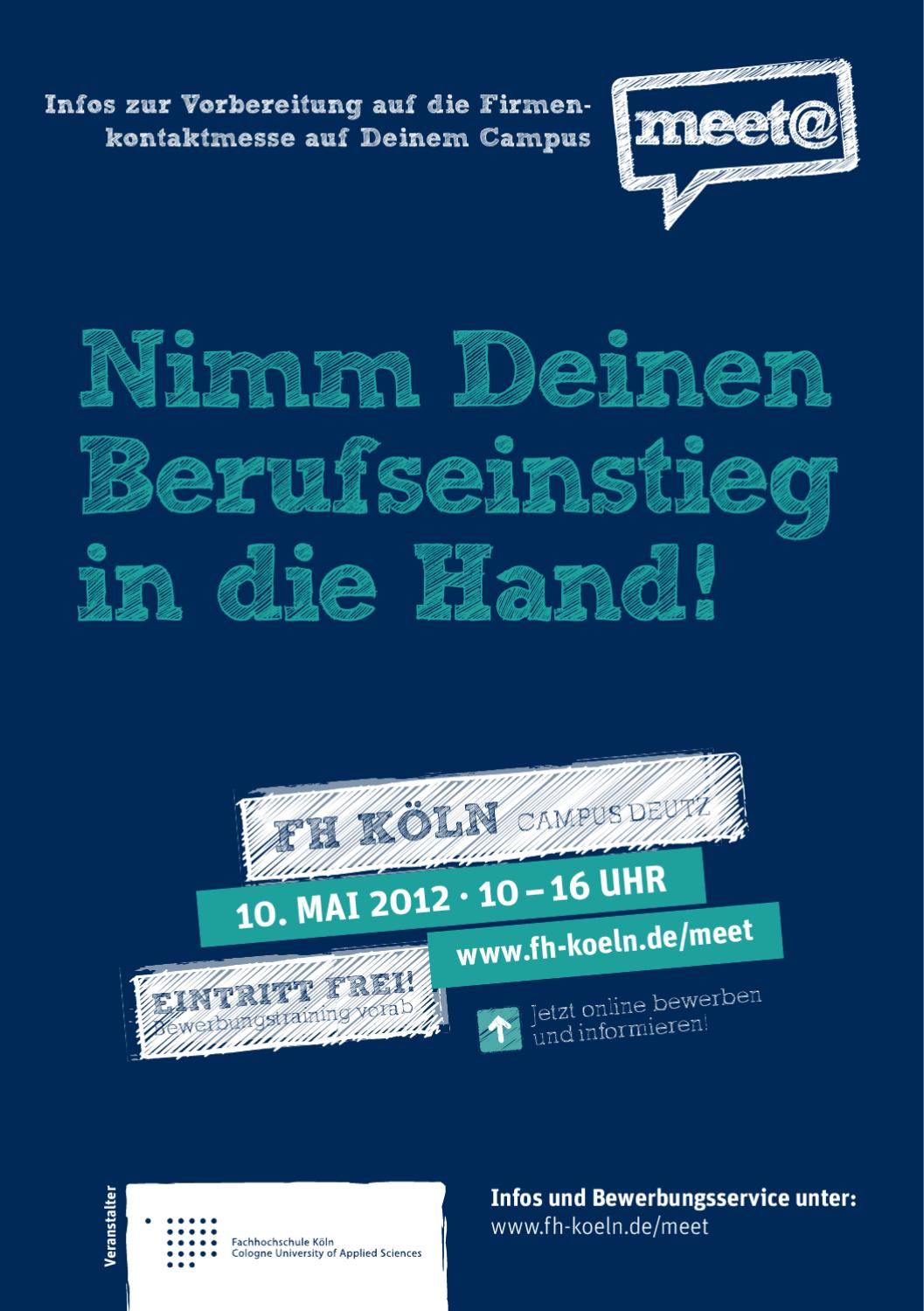 messeguide_meet_fh_koeln_2012 by iqb career services ag issuu - Fh Koln Bewerbung