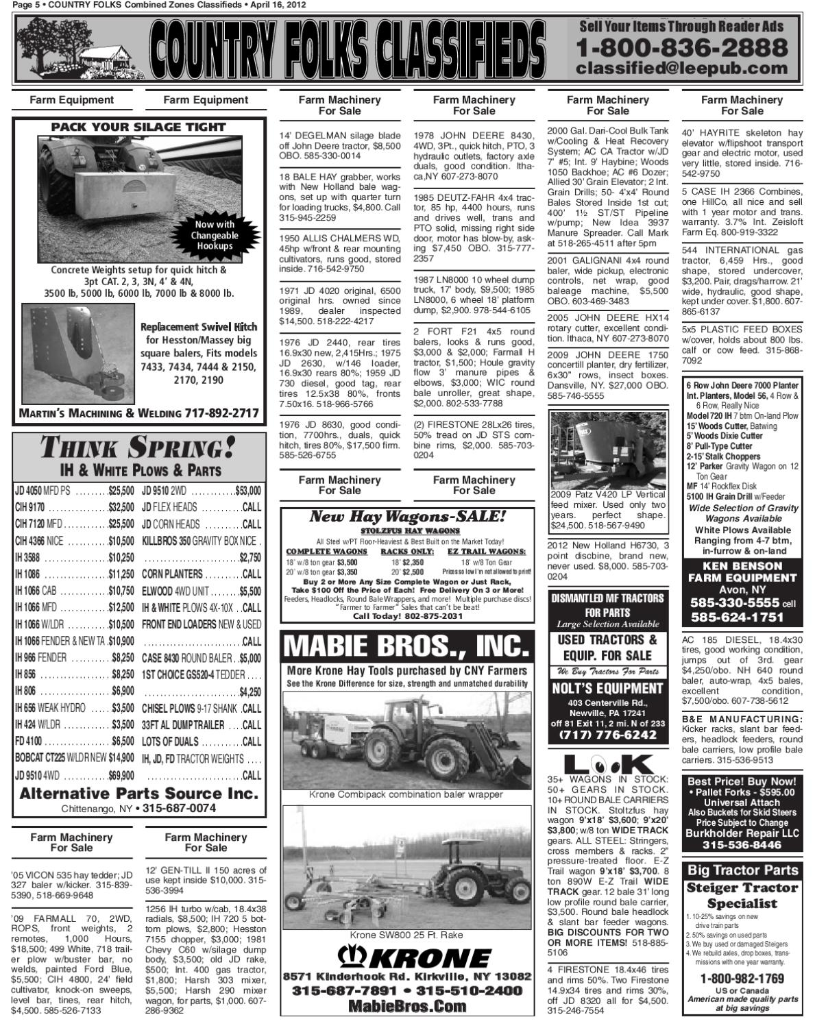Country Folks Classifieds 4 16 12 by Lee Publications - issuu