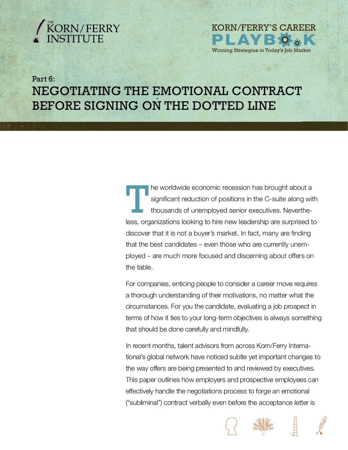Careful Signing Employment Contract | Negotiating The Emotional Contract Before Signing On The Dotted Line
