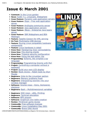linux magazine uk 006 by Добавил Добавил issuu